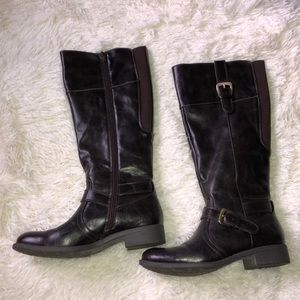 Great Northwest Clothing Company Shoes - Tall Faux Leather Boots Brown